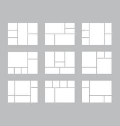 Photo collage presentation frames layout memories vector