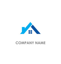 Roof house realty logo vector