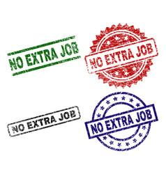 scratched textured no extra job seal stamps vector image