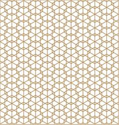 seamless japanese pattern shoji kumiko in golden vector image