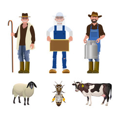 Set of people of different professions vector