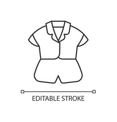 silk top and shorts linear icon vector image