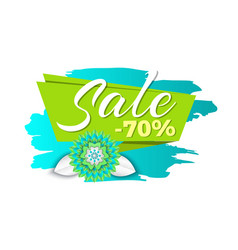 Spring sale 70 percent price promotional banner vector