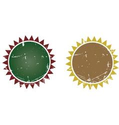 Sun banner vector