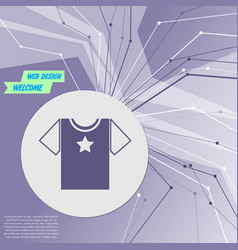 t-shirt icon on purple abstract modern background vector image