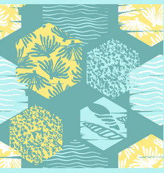 Trendy sea seamless pattern with hand texture and vector