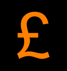 Turkish lira sign orange icon on black background vector