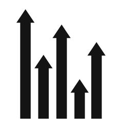 Upside growing arrows icon simple style vector
