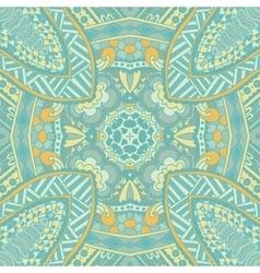 Vintage blue seamles doodle pattern vector
