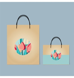 Vintage Paper Shopping Bags vector