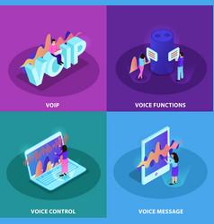 voice control 2x2 design concept vector image
