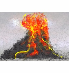 Volcano Abstract background vector image