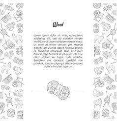 Wool banner template with place for text and vector