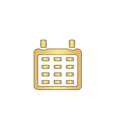 Calendar computer symbol vector image vector image