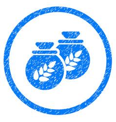 Grain harvest sacks rounded grainy icon vector