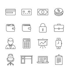 Money icon set vector image