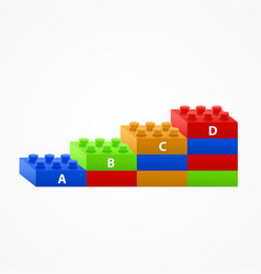 plastic building blocks stairs vector image