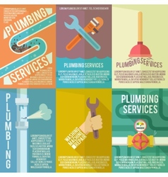 Plumbing icons composition poster vector image vector image
