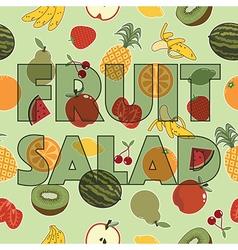 fruit salad decoration vector image vector image