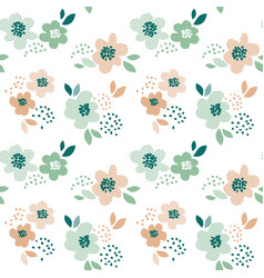 simple pale color floral decorative seamless vector image vector image