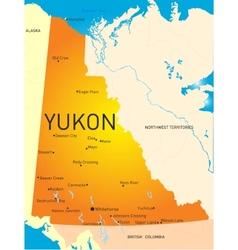 Yukon province vector image
