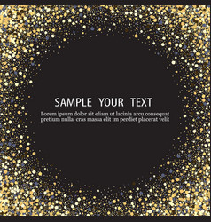 black background with shiny particles vector image vector image