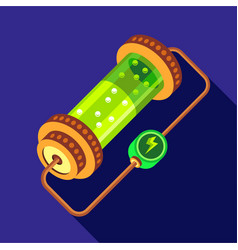 chemistry device icon flat style vector image