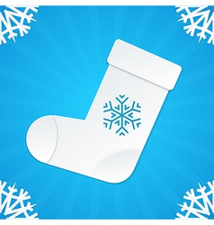 christmas postcard socks 3 vector image