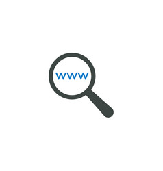 magnifying glass icon www icon vector image