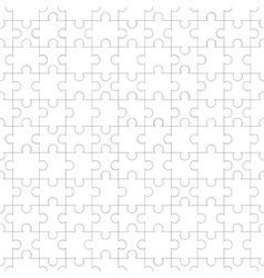 White jigsaw pieces seamless pattern vector image