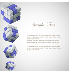 background with 3d cubes vector image vector image