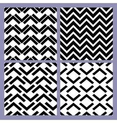 geometric seamless pattern set retro vintage vector image vector image