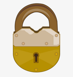 old outboard lock vector image vector image