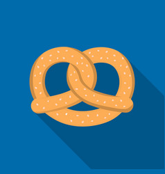 pretzel icon in flat style isolated on white vector image