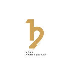 12 year anniversary logo template design vector
