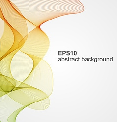 Abstract color wave background vector