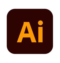 Adobe logo icon isolated on white vector