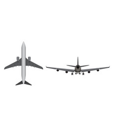 Airplane icon isolated on white background vector