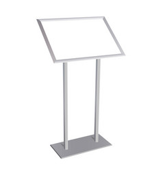 Aluminium poster stand with blank frame vector