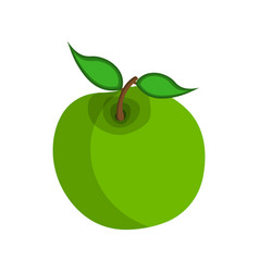 apple icon food with healthy fats and oils cartoon vector image