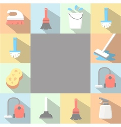 application Cleaning Icons set in flat vector image