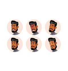 Arab man avatar people ghutra islamic vector