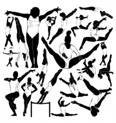 athletic and gymnastics vector image