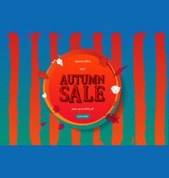 Autumn sale flyer template vector