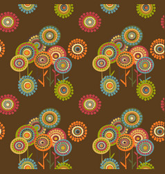 background with oriental flowers vector image