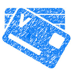 Banking cards grunge icon vector