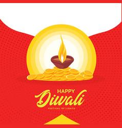 banner design of happy diwali vector image