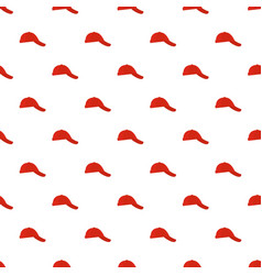 baseball cap on side pattern seamless vector image