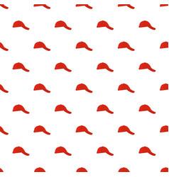 baseball cap on side pattern seamless vector image