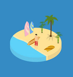beach vacation element 3d isometric view vector image